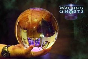 20cm Giant Clear Crystal Ball Mystical Scrying Gazing Paranormal Fortune  UK